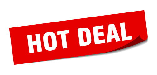 hot deal sticker. hot deal square isolated sign. hot deal