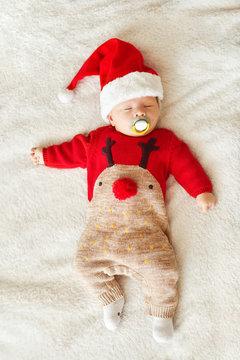 sleeping christmas baby