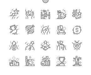 Motivation Well-crafted Pixel Perfect Vector Thin Line Icons 30 2x Grid for Web Graphics and Apps. Simple Minimal Pictogram
