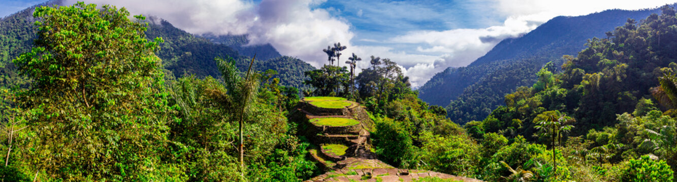 High Angle View of Ciudad Perdida (Lost City) in the Sierra Nevada Mountains of Colombia