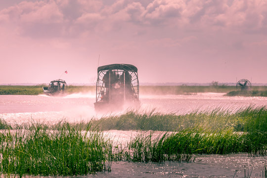 Everglades airboat ride in South Florida, National Park