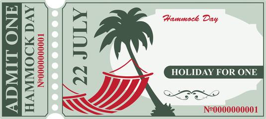 Invitation card Hammock Day