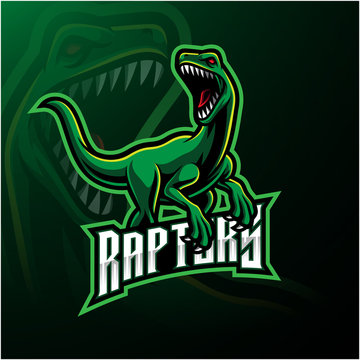Raptor sport mascot logo design