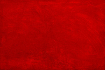 The background of the wall, painted in red paint. Wall mural