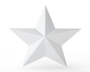 3D gray star on white background illustration 3d rendering