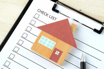 Fototapeta 住宅とチェックリスト