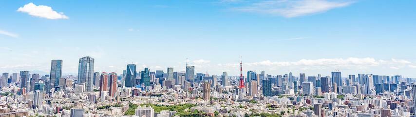 Deurstickers Tokio 東京 パノラマ