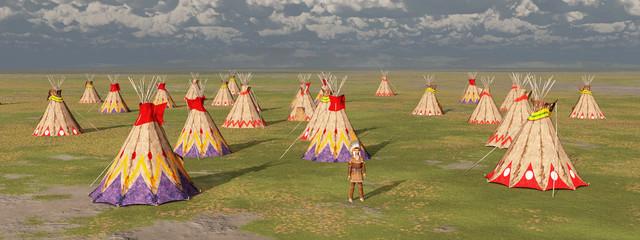 Indianerlager in der Prärie