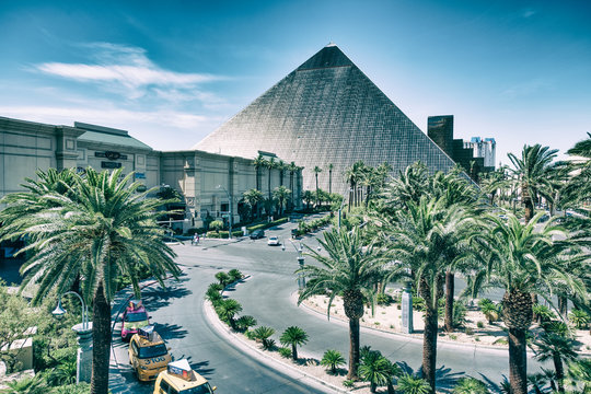 LAS VEGAS, NV - JUNE 27th, 2019: Luxor Hotel Casino. This is a major attraction in the city