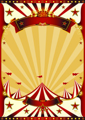 Red Vintage circus poster