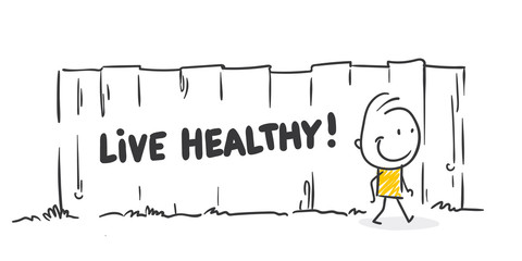 Strichfiguren / Strichmännchen: Live healthy. (Nr. 438)