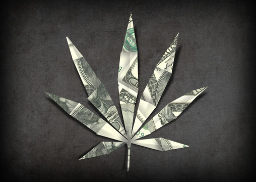 cannabis industry money investment concept illustration editorial