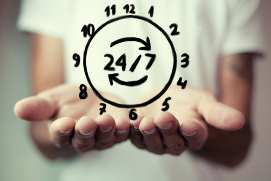 24 hour icon round-the-clock service