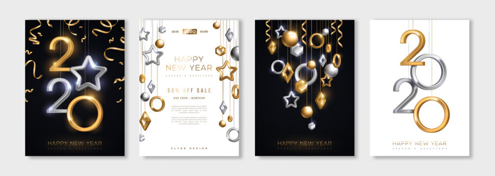 Christmas and New Year posters