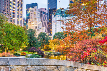 Fototapete - Central Park, New York City Autumn