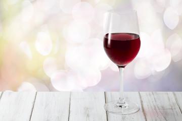 赤ワインと背景
