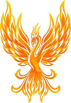 Glowing Fantasy Phoenix Bird