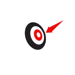 Target icon logo design vector template