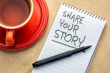 share your story  handwriting
