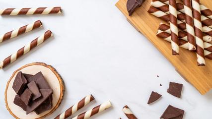 chocolate wafer stick