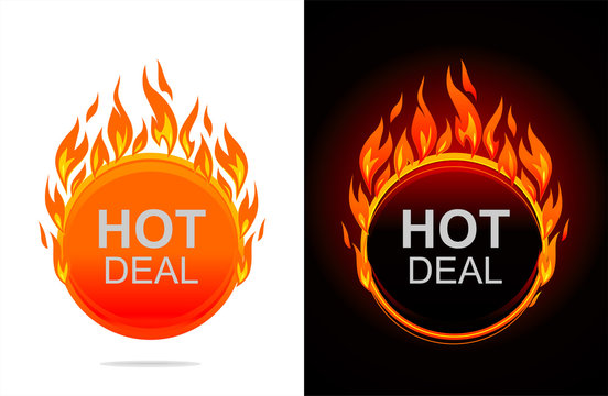 Hot Deal Round Label