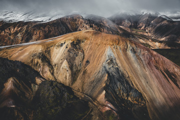 Landmannalaugar itself is made up of windswept rhyolite mountains, a rock type that creates a full spectrum of dazzling colour.