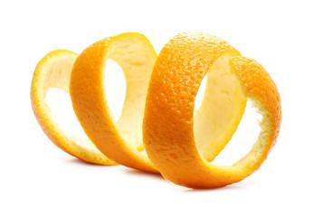 Orange peel isolated on white background Fotoväggar