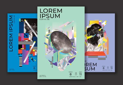 Futuristic Event Posters Set