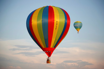 Hundreds of hot air balloons are seen at the Mondial Air Ballons festival in Chambley