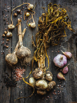 heirloom garlic with salt and pepper