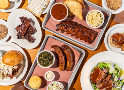 Barbecue Ribs And Sausage