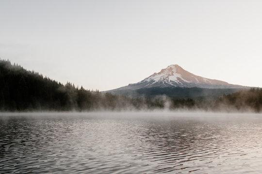 Sunrise over Mt Hood in Oregon