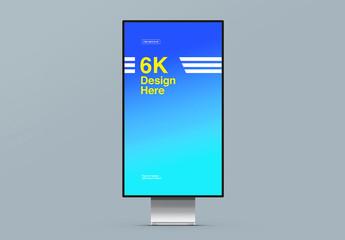 Vertical Display Monitor Mockup