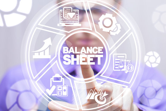 Balance Sheet Financial Accounting concept. Business Bookkeeping concept.