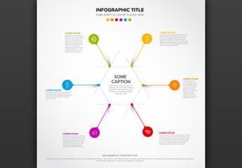 6 Elements Hexagon Info Chart Layout