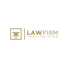 pilar law legal firm logo icon vector template Vector