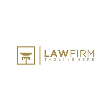 pilar law legal firm logo icon vector template Vector