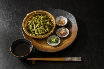 うちたて新そば Newly made raw soba Japanese foods