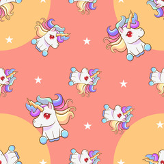 unicorn vector pattern graphic design