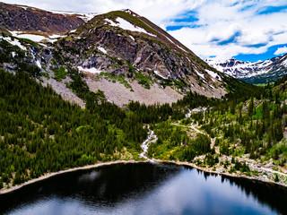 Mountain Lake Waterfall