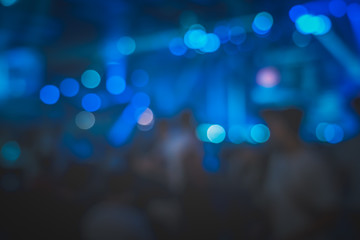 Blur background of Crowd People in the live show; abstract bokeh background