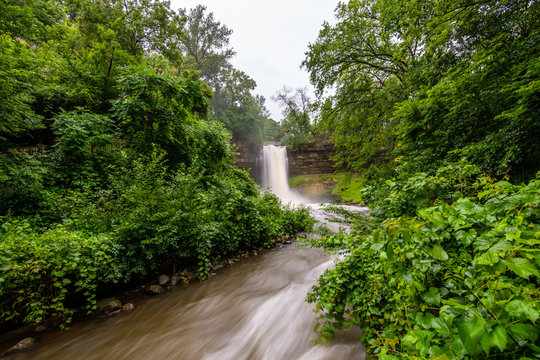 Thunderstorm over Minnehaha Falls