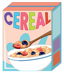 Cereal box isolated on white