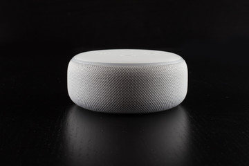 digital voice assistant with black background