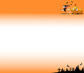 ハロウイーンのオレンジ色の背景