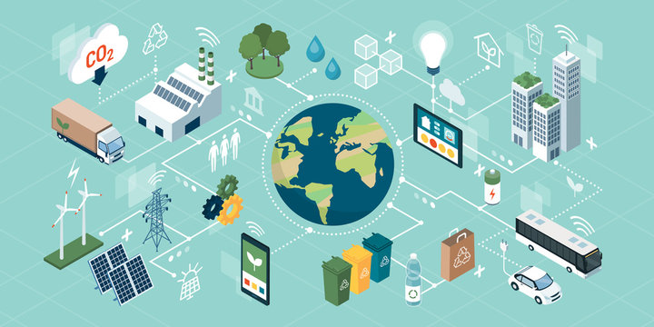 Innovative green technologies, smart systems and recycling