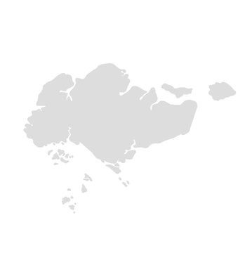 singapore map illustration vector eps10