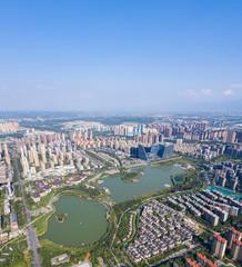 Fototapete - aerial view of qujiangchi ruins park