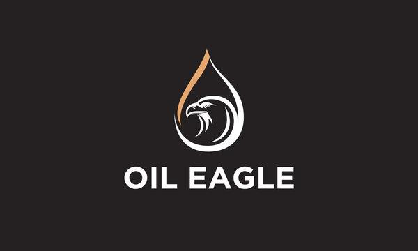 oil and eagle logo design inspiration