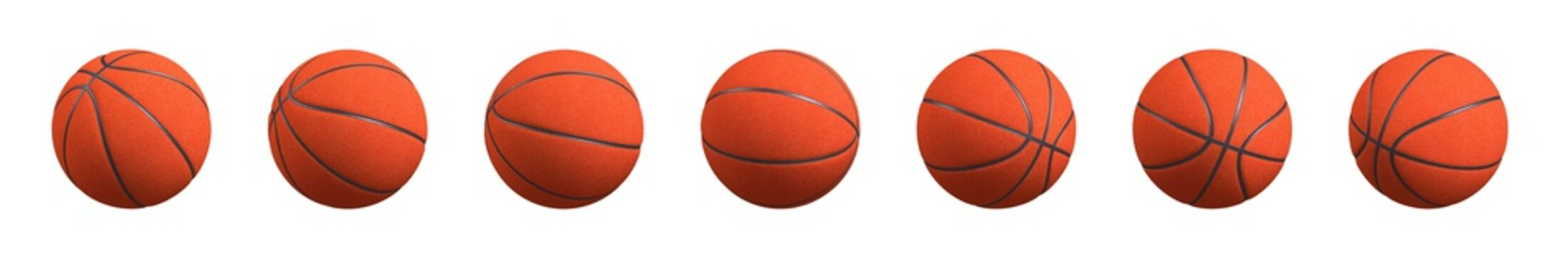 Basketball Ball Various Positions